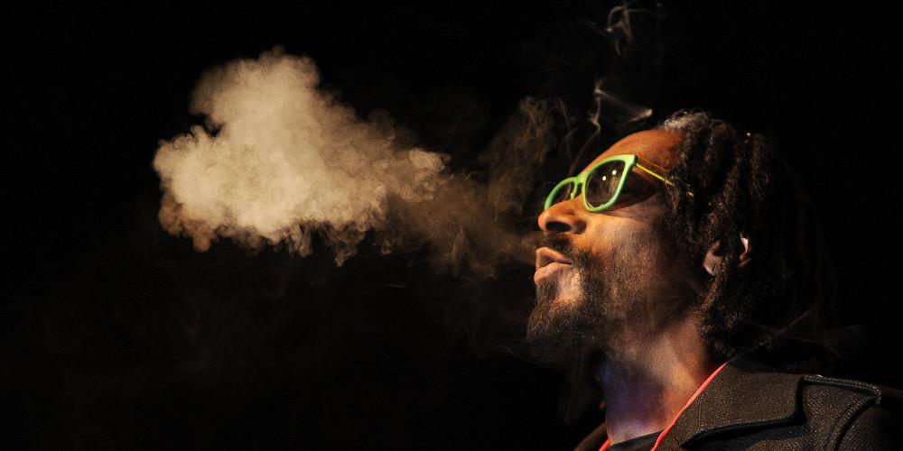 Snoop Dogg blowing smoke