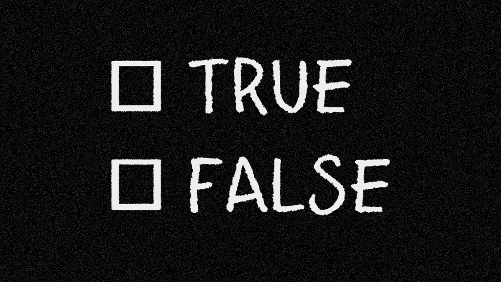 True and False Check Boxes photo