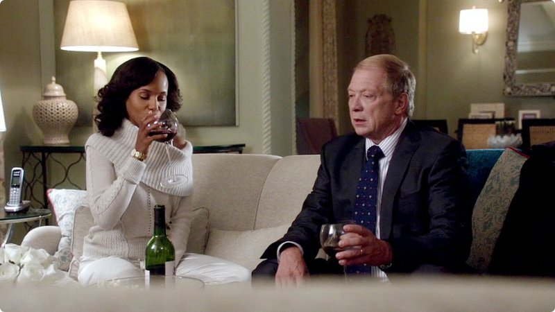 olivia pope sipping wine