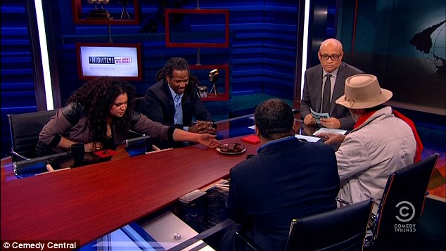 Carl Hart Roland Martin Larry Wilmore & Michelle Buteau on The Nightly Show