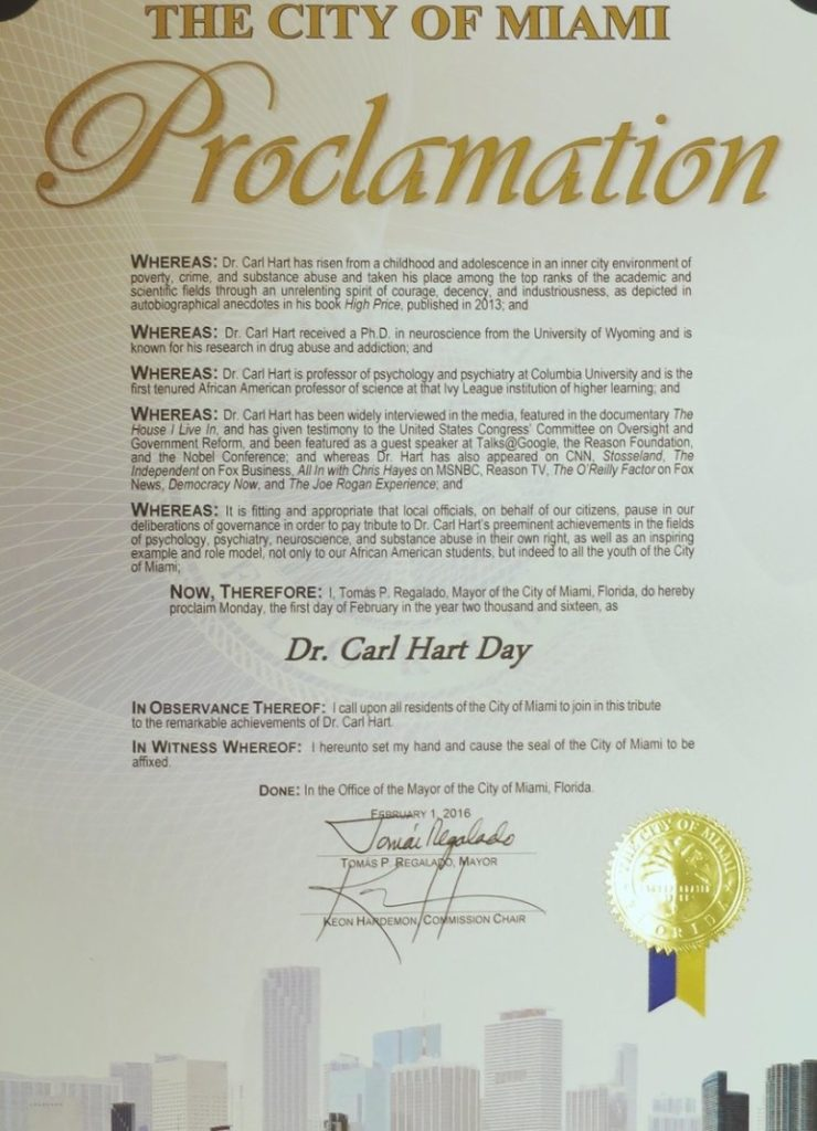 Dr Carl Hart Day